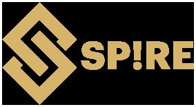 SPIRE logo złote MAŁE bez tła